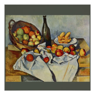 The Basket of Apples by Paul Cezanne Poster