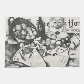 The basket of apples tea towel