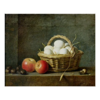 The Basket of Eggs, 1788 Poster