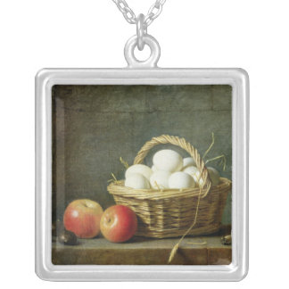 The Basket of Eggs, 1788 Silver Plated Necklace
