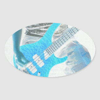 The Bass Player Musician Sticker