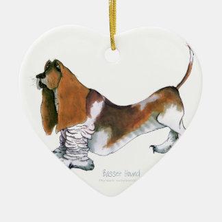 the basset hound, tony fernandes christmas ornament