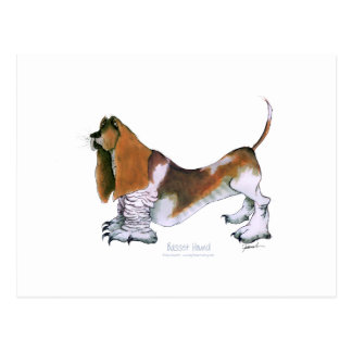 the basset hound, tony fernandes postcard