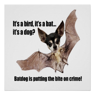 The Bat Dog is Taking a Bite Out of Crime Poster