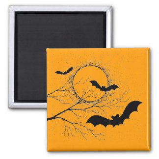 The bat of Halloween - Square Magnet