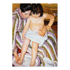 The Bath by Mary Cassatt mother bathing child art Card