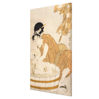 The Bath, Edo period Canvas Print