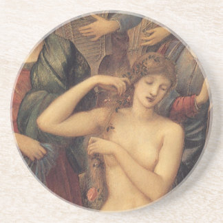 The Bath of Venus by Sir Edward Coley Burne Jones Coaster