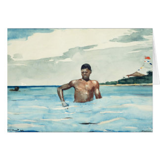The Bather, 1899 Card