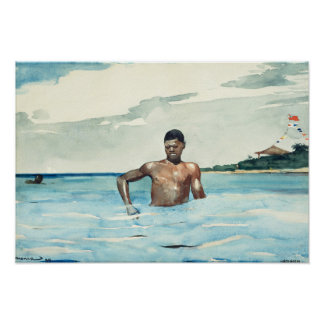 The Bather, 1899 Poster
