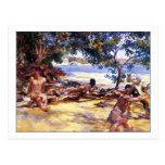 The Bathers by John Singer Sargent Postcard