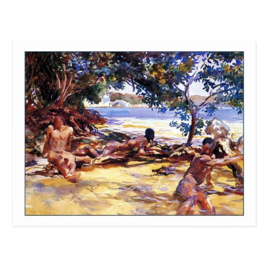 The Bathers by John Singer Sargent Postcard