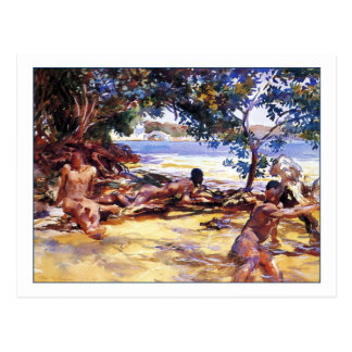 The Bathers by John Singer Sargent Postcards