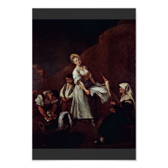 The Bathers By Longhi Pietro (Best Quality) Poster