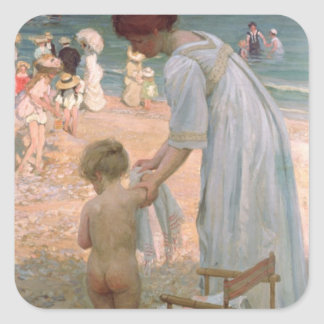 The Bathing Hour Square Sticker