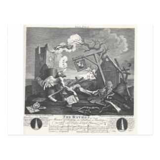 The Bathos by William Hogarth Postcard