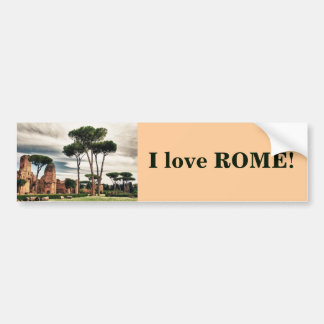 The Baths of Caracalla in Rome Bumper Sticker