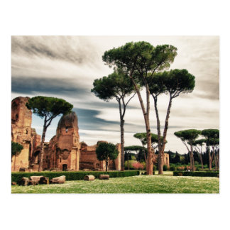 The Baths of Caracalla in Rome Postcard