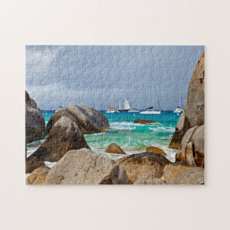 The Baths, Virgin Gorda, British Virgin Islands Jigsaw Puzzle