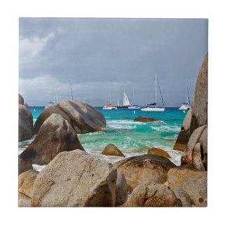 The Baths, Virgin Gorda, British Virgin Islands Small Square Tile