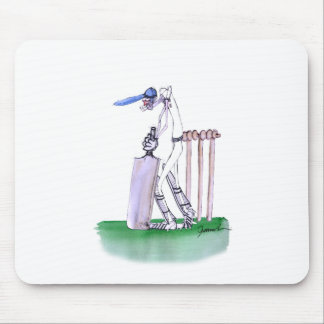 THE BATSMAN cricket, tony fernandes Mouse Mat