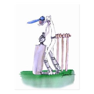THE BATSMAN cricket, tony fernandes Postcard