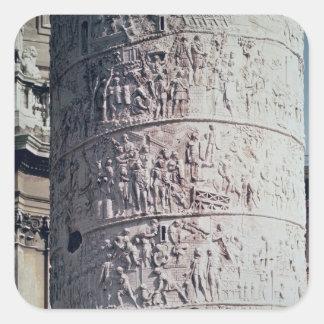 The Battle against the Dacians, detail Square Sticker