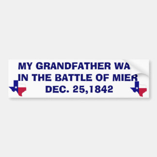 THE BATTLE AT MIER - 1842 BUMPER STICKER