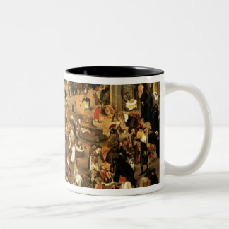 The Battle between Carnival and Lent Two-Tone Mug