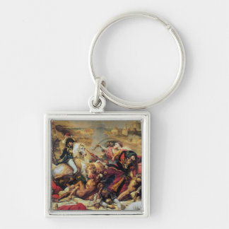The Battle of Aboukir, 25th July 1799 Silver-Colored Square Key Ring