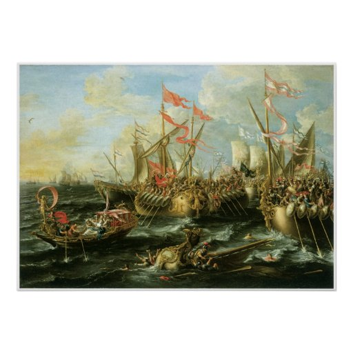 The Battle of Actium, 2 September 31 BC Poster