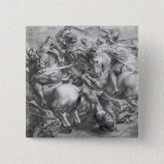 The Battle of Anghiari after Leonardo da Vinci 15 Cm Square Badge