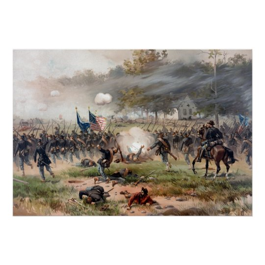 The Battle of Antietam -- Civil War Poster