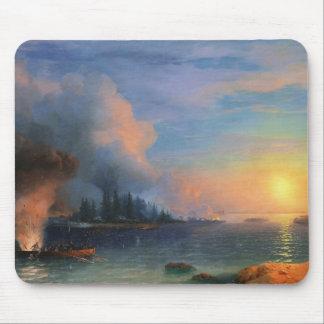 The Battle of Bomarsund Ivan Aivazovsky seascape Mouse Pad