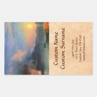 The Battle of Bomarsund Ivan Aivazovsky seascape Rectangular Sticker