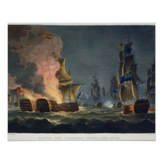 The Battle of Cabareta Point, July 12th 1801, engr Poster