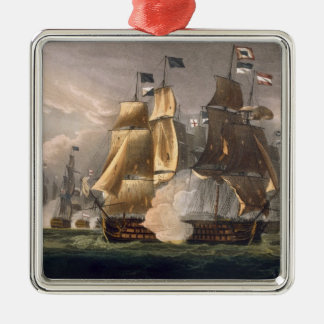 The Battle of Cape St. Vincent, February 14th 1797 Silver-Colored Square Decoration