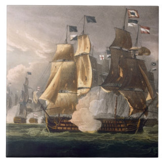 The Battle of Cape St. Vincent, February 14th 1797 Tile