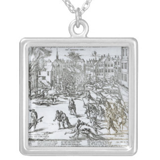 The Battle of Courtrai Between the French Silver Plated Necklace