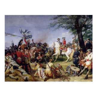 The Battle of Fontenoy, 11th May 1745, 1828 Postcard