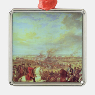 The Battle of Fontenoy, 11th May 1745 Silver-Colored Square Decoration