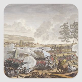The Battle of Friedland, 14 June 1807, engraved by Square Sticker