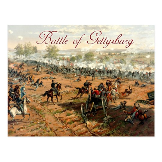 The Battle of Gettysburg Postcard