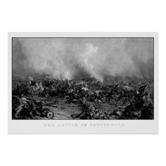 The Battle of Gettysburg Poster