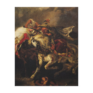 The Battle of Giaour and Hassan Canvas Print