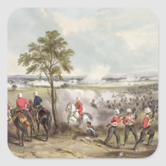 The Battle of Goojerat on 21st February 1849, engr Square Sticker