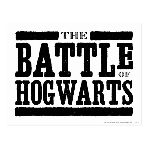 The Battle of Hogwarts Post Cards