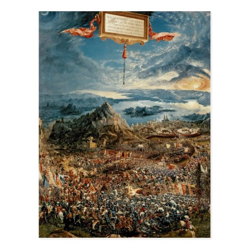 The Battle of Issus Post Card