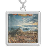 The Battle of Issus Square Pendant Necklace