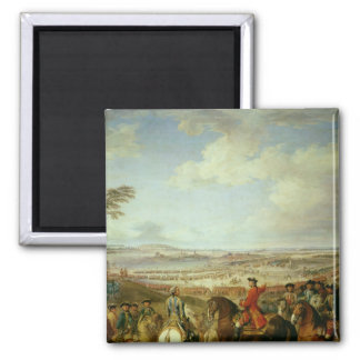 The Battle of Lawfeld, 2nd July 1747 Square Magnet